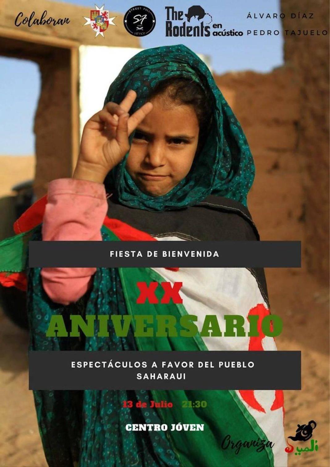 Fiesta de bienvenida XX Aniversario a favor del Pueblo Saharaui 1068x1510 - Fiesta de bienvenida XX Aniversario a favor del Pueblo Saharaui