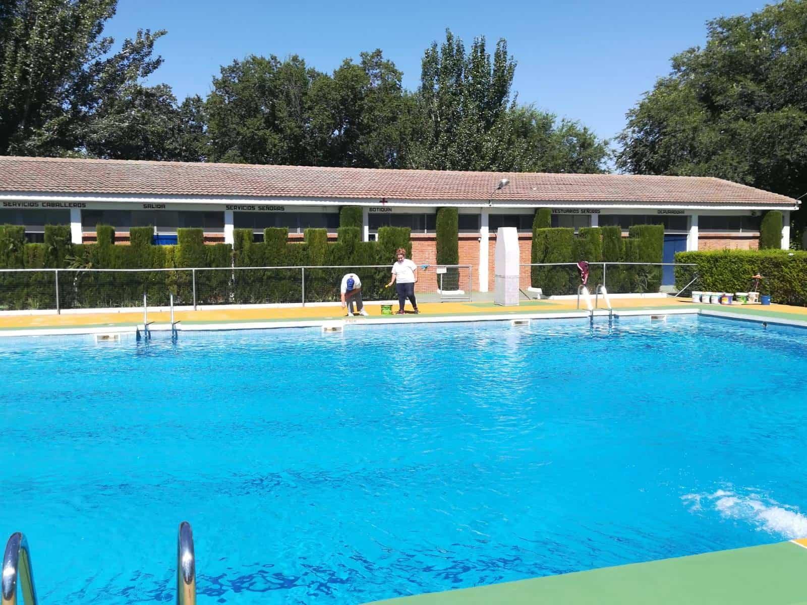 Finalizadas las tareas de mantenimiento de la piscina for 3 t piscina
