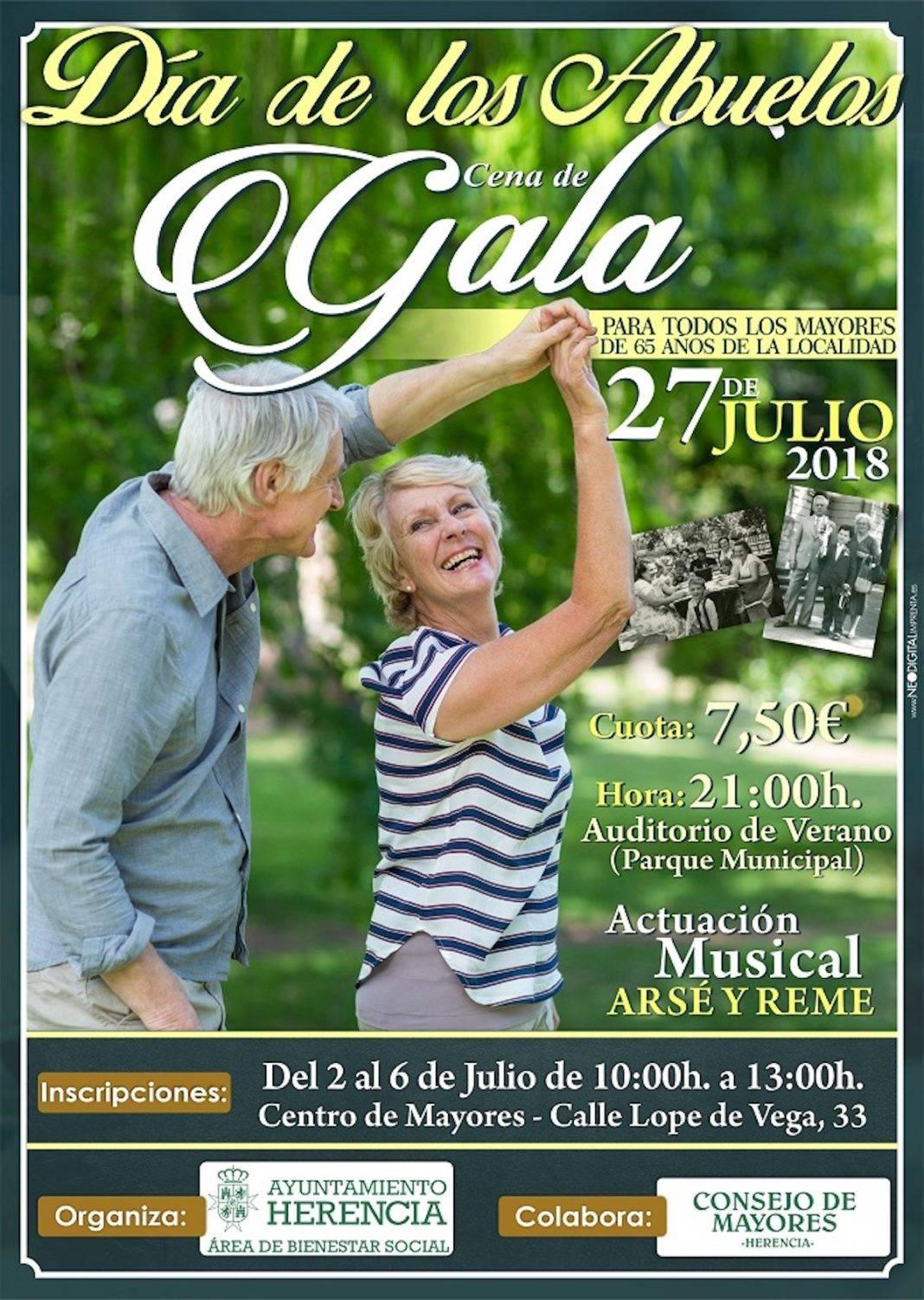 Herencia mantiene su compromiso con la Cena de Gala para conmemorar el Día de los Abuelos 4
