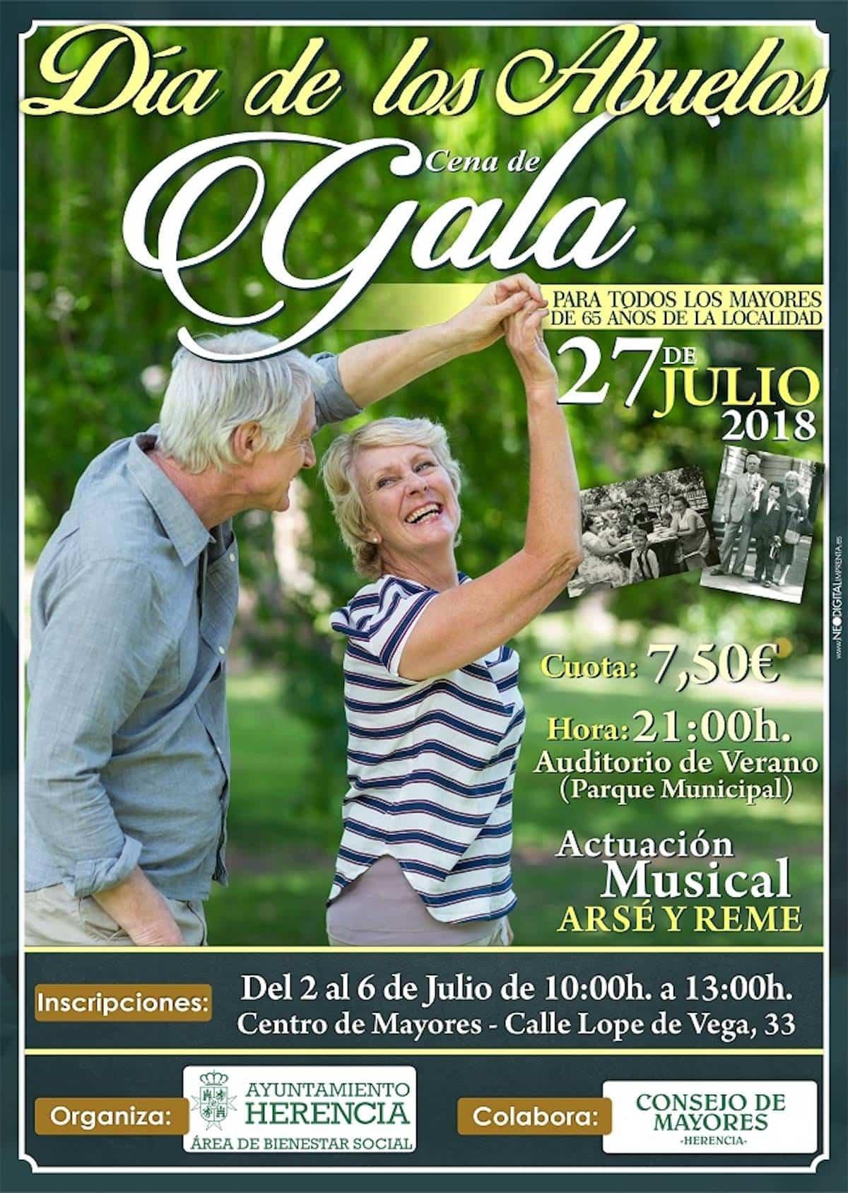 Herencia mantiene su compromiso con la Cena de Gala para conmemorar el Día de los Abuelos 3