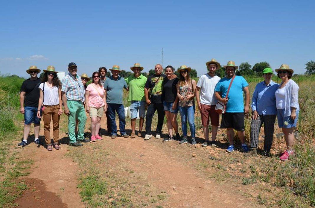 Herencianos en el Curso de Agrilcultura Sostenible visitando la finca Ekotania 4