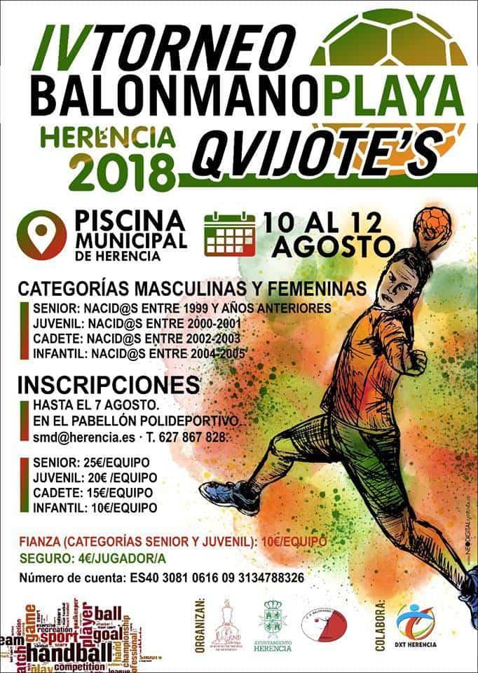 IV Torneo de Balonmano Playa de Herencia - Último día para apuntarse al IV Torneo de balonmano playa de Herencia