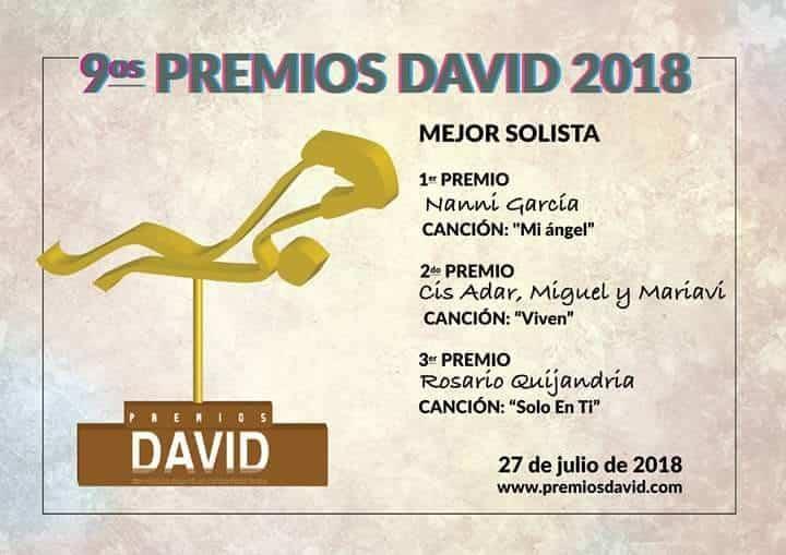 """Premios David a Cis Adar - Cis Adar triunfa en los premios internacionales """"David"""" a la música católica"""