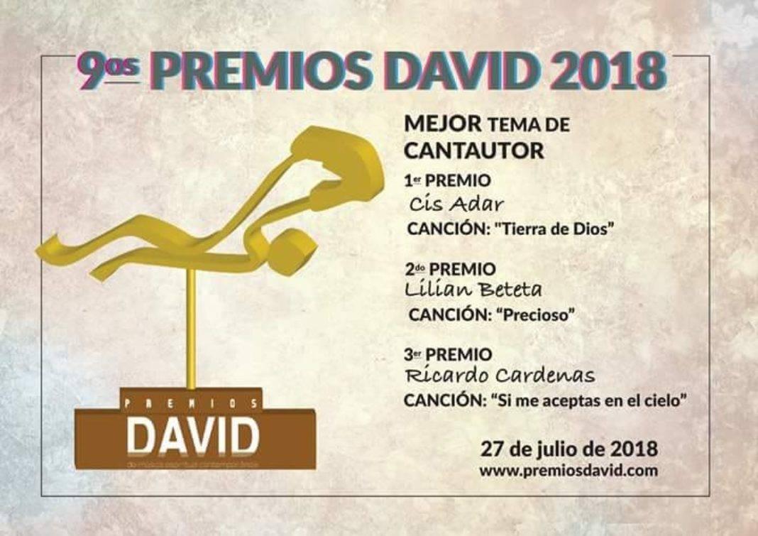 """Cis Adar triunfa en los premios internacionales """"David"""" a la música católica 16"""