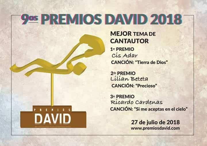 """Premios David a Cis Adar 1 - Cis Adar triunfa en los premios internacionales """"David"""" a la música católica"""