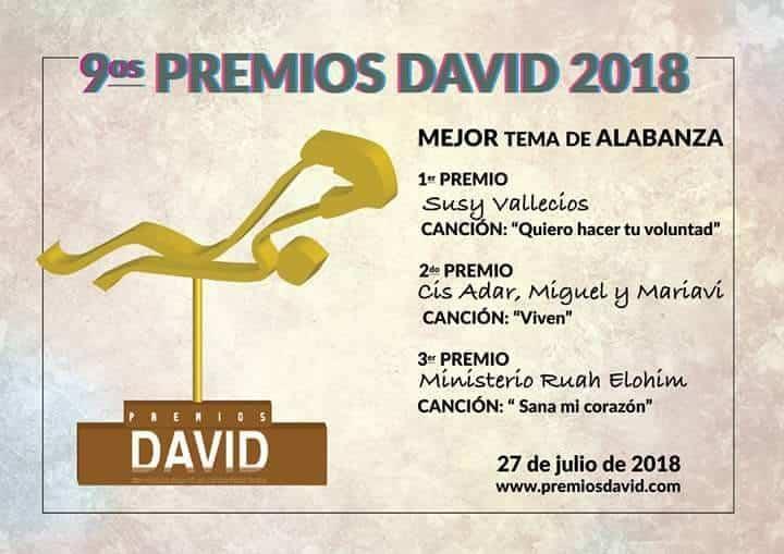 """Premios David a Cis Adar 2 - Cis Adar triunfa en los premios internacionales """"David"""" a la música católica"""
