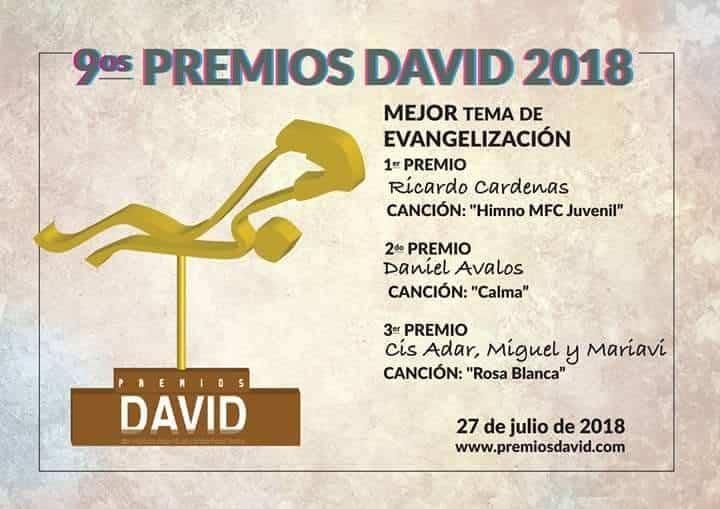 """Cis Adar triunfa en los premios internacionales """"David"""" a la música católica 14"""