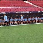 Los participantes en el V Campus de Fútbol visitaron el Wanda Metropolitano 3