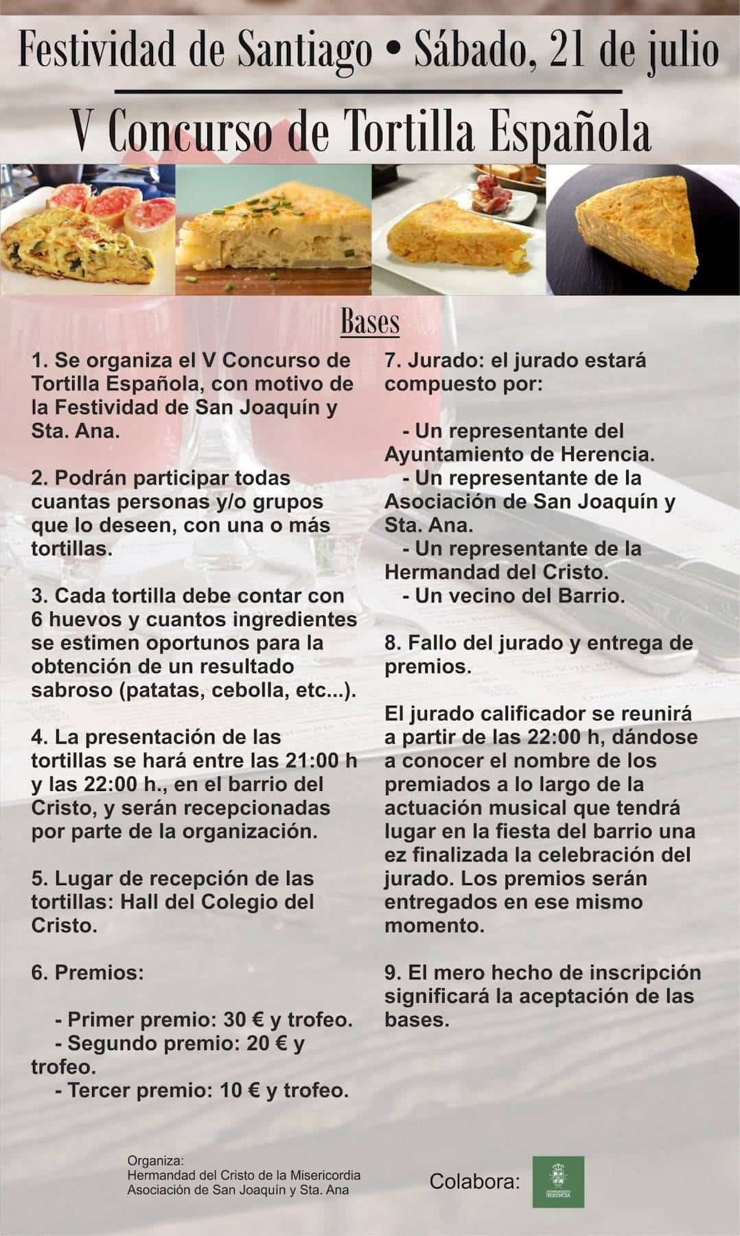 V Concurso de Tortilla Española en Herencia 1