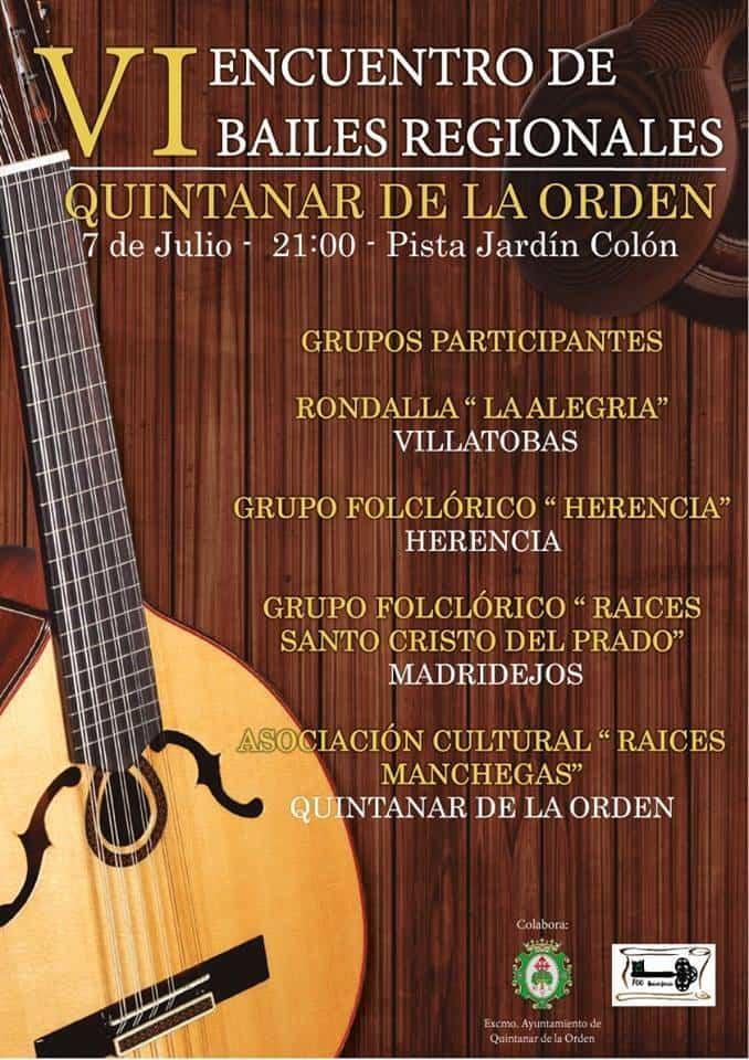"""VI Encuentro de bailes regionales de Quintanar de la Orden - El grupo folclórico """"Herencia"""" participa del VI Encuentro de bailes Regionales de Quintanar de la Orden"""