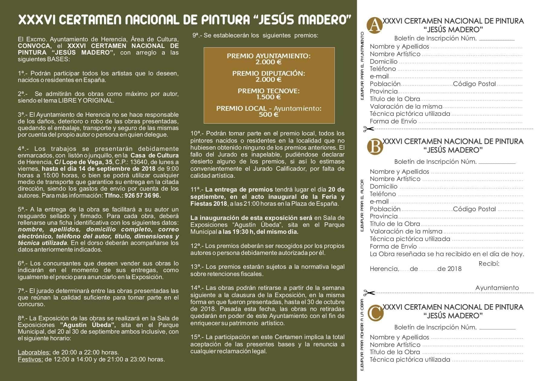 """XXXVI certamen nacional pintura herencia jesus madero 3 - Convocado el XXXVI edición del Certamen Nacional de Pintura """"Jesús Madero"""""""