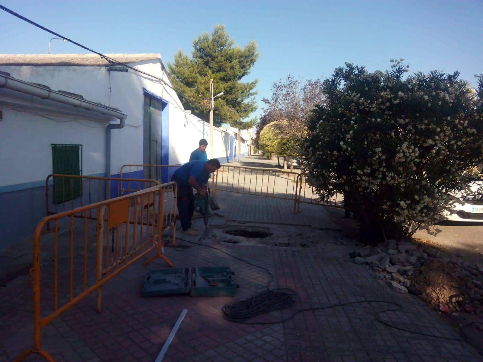 actuaciones acerados en herencia - Actuaciones en los acerados de reposición y consolidación de pavimentos