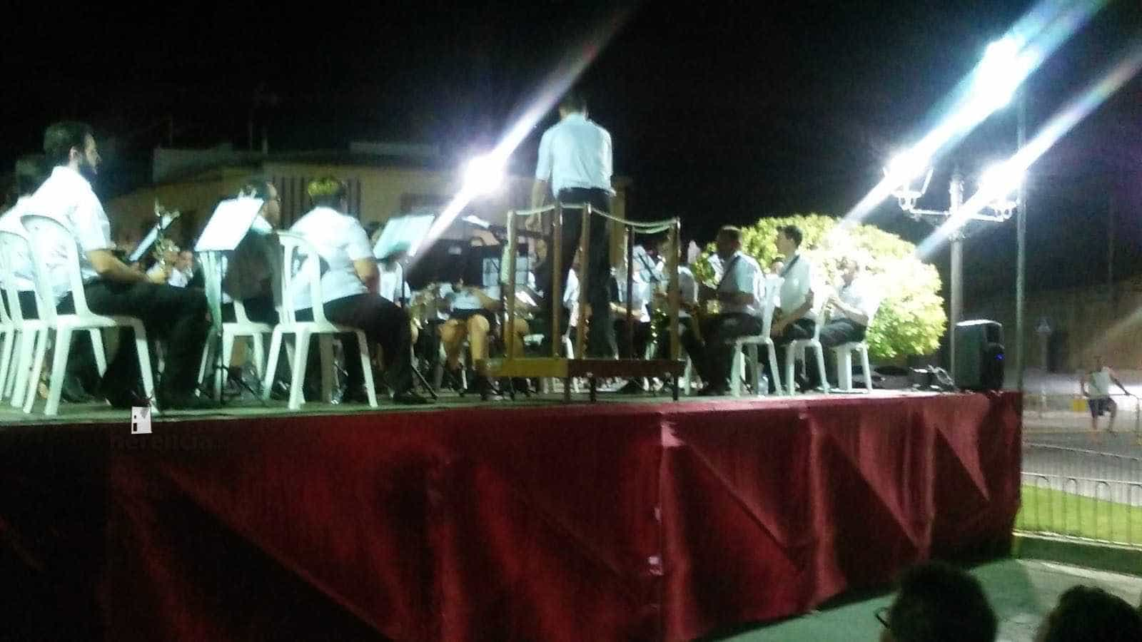 concierto santa cecilia herencia y viso del marques 3 - Viso del Marqués y Herencia se unen en el Encuentro de Bandas del Barrio del Cristo
