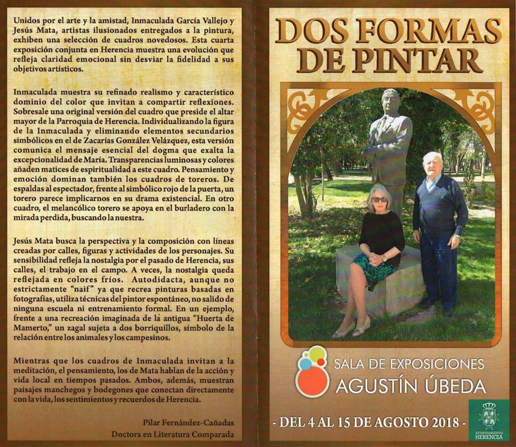 """Inauguración de la exposición """"Dos formas de pintar"""" el sábado 4 de agosto 2"""