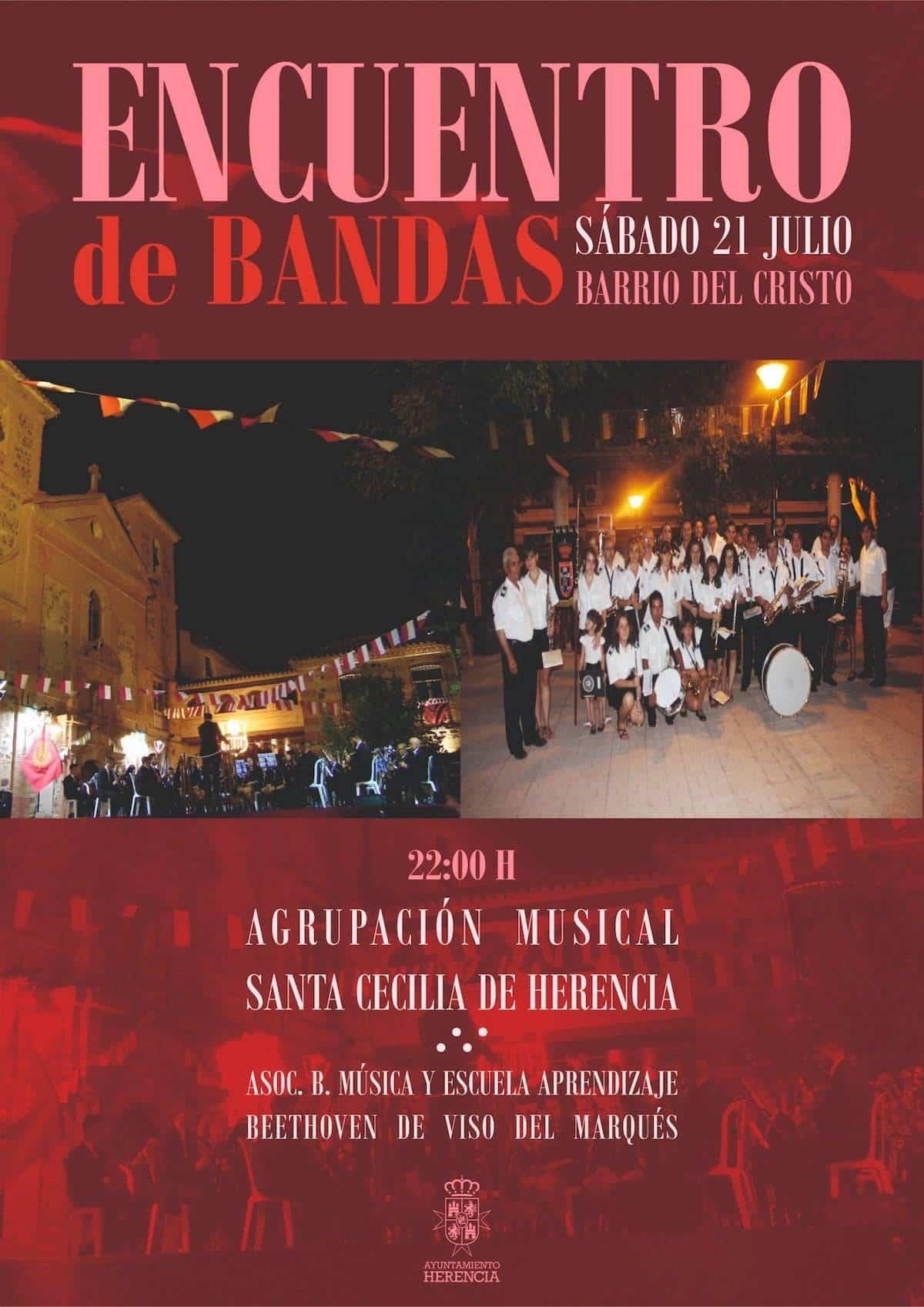 encuentro de bandas herencia 2018 - Encuentro de Bandas del Barrio del Cristo de Herencia