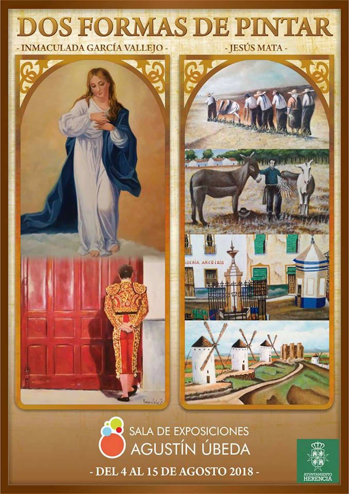 """exposicion dos formas de pintar herencia - Inauguración de la exposición """"Dos formas de pintar"""" el sábado 4 de agosto"""