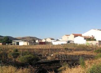 Extinguido incendio en parcela en Herencia