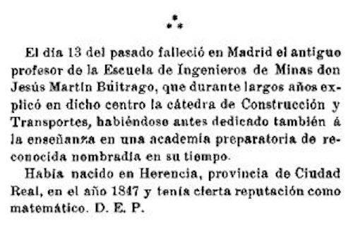 """jesus buitrago - """"Un herenciano catedrático en la Escuela de Ingenieros de Madrid"""""""