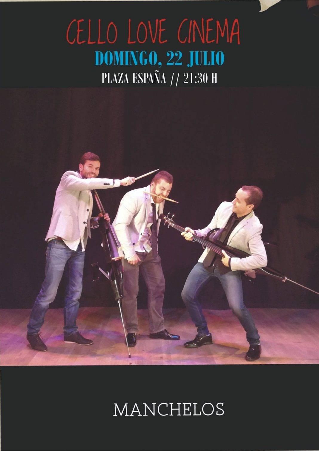"""manchelos cello love cinema 1068x1510 - Manchelos actuará en Herencia su obra """"Cello Love Cinema"""""""
