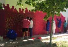 El Teleclub se llena de color gracias al arte inclusivo del Centro Picazuelo