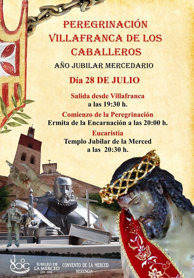 peregrinaci%C3%B3n jubilar mercedaria de Villafranca de los Caballeros - La parroquia de Villafranca de los Caballeros peregrina al convento de la Merced de Herencia