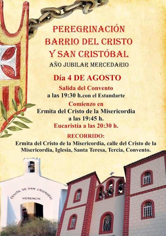 peregrinacion barrio del Cristo y San Cristobal de herencia - Peregrinación jubilar del barrio del Cristo y San Cristóbal