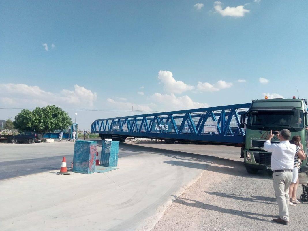 Grupo Álvarez envía un pórtico de 40 metros para instalar en Leganés 7