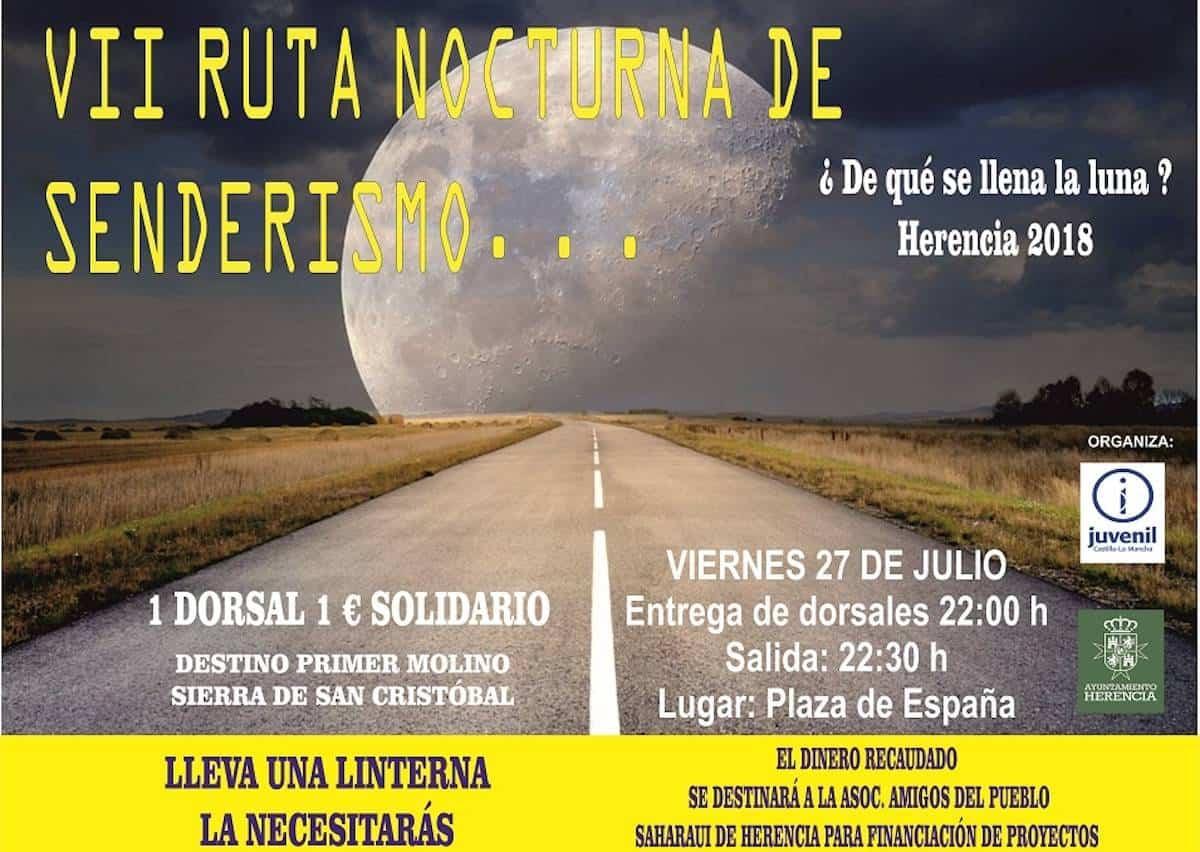ruta de senderismo herencia - Ruta de Senderismo Nocturna ¿De qué se llena la Luna?