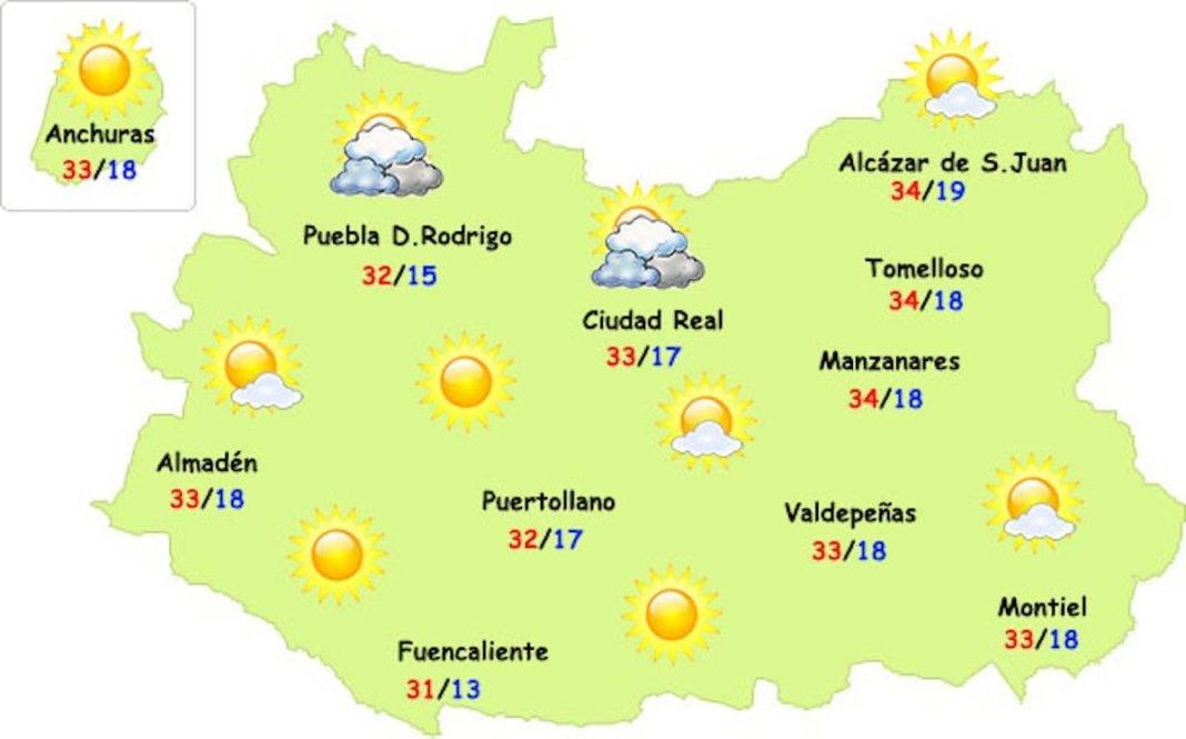 Las temperaturas del verano están siendo muy llevaderas en Herencia 1