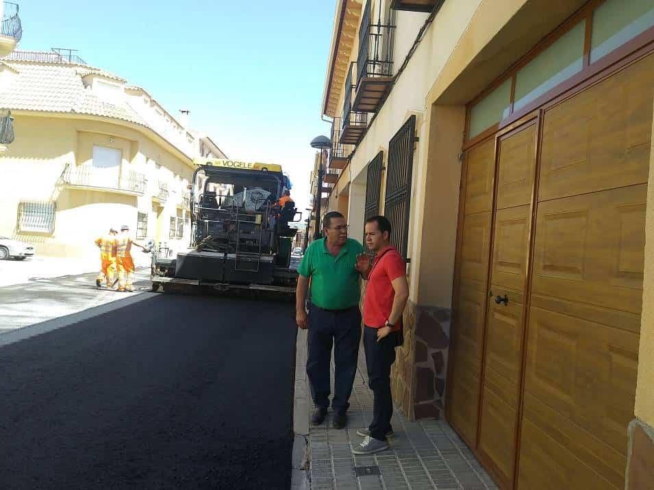 Asfaltado calles de Herencia - En marcha el Plan de Asfaltado Municipal del año 2018