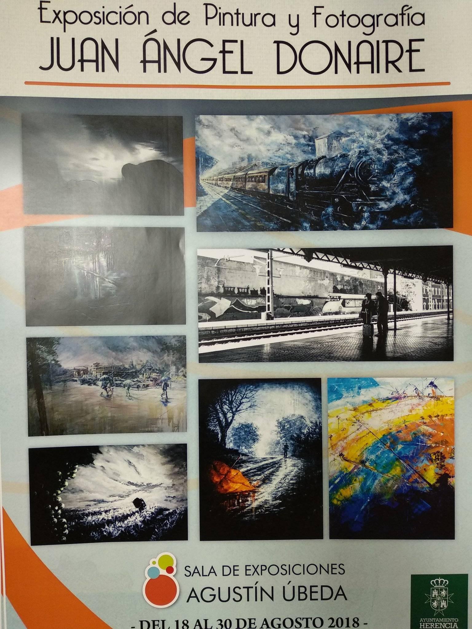 Exposición Juan Angel Donaire en Herencia - El artista Juan Ángel Donaire expone fotografía y pintura en Herencia