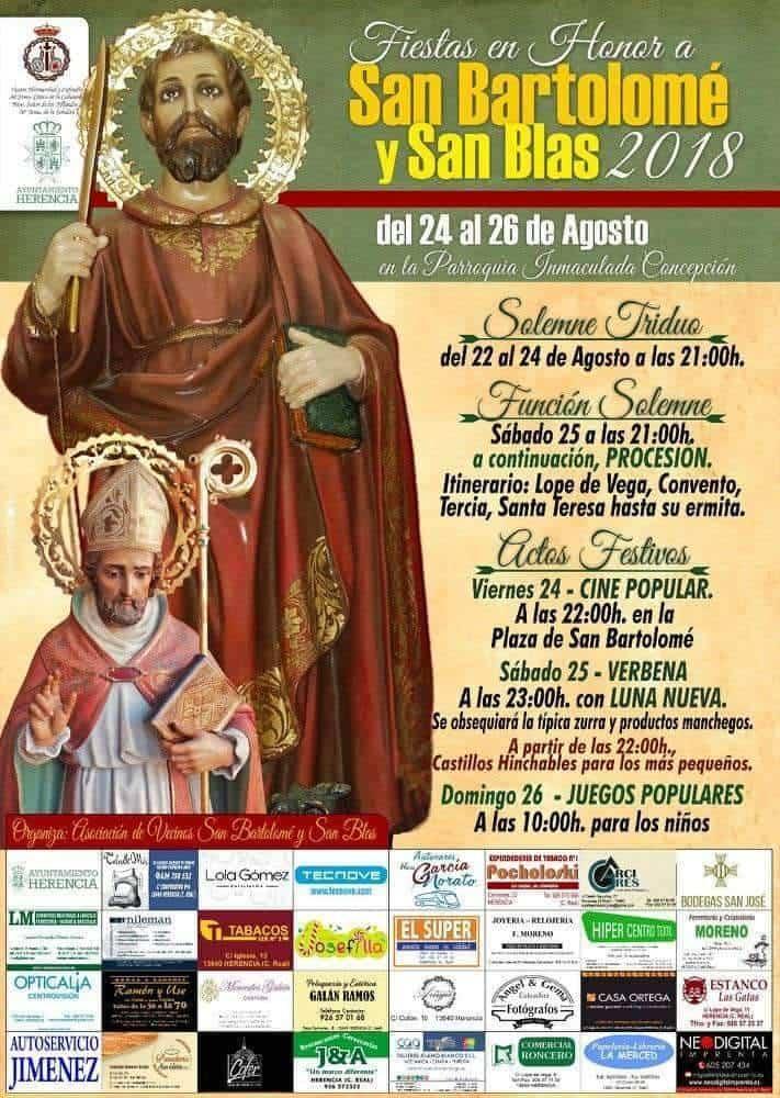 Fiestas de San Bartolome 2018 en Herencia - Fiestas en honor a San Bartolomé en Herencia