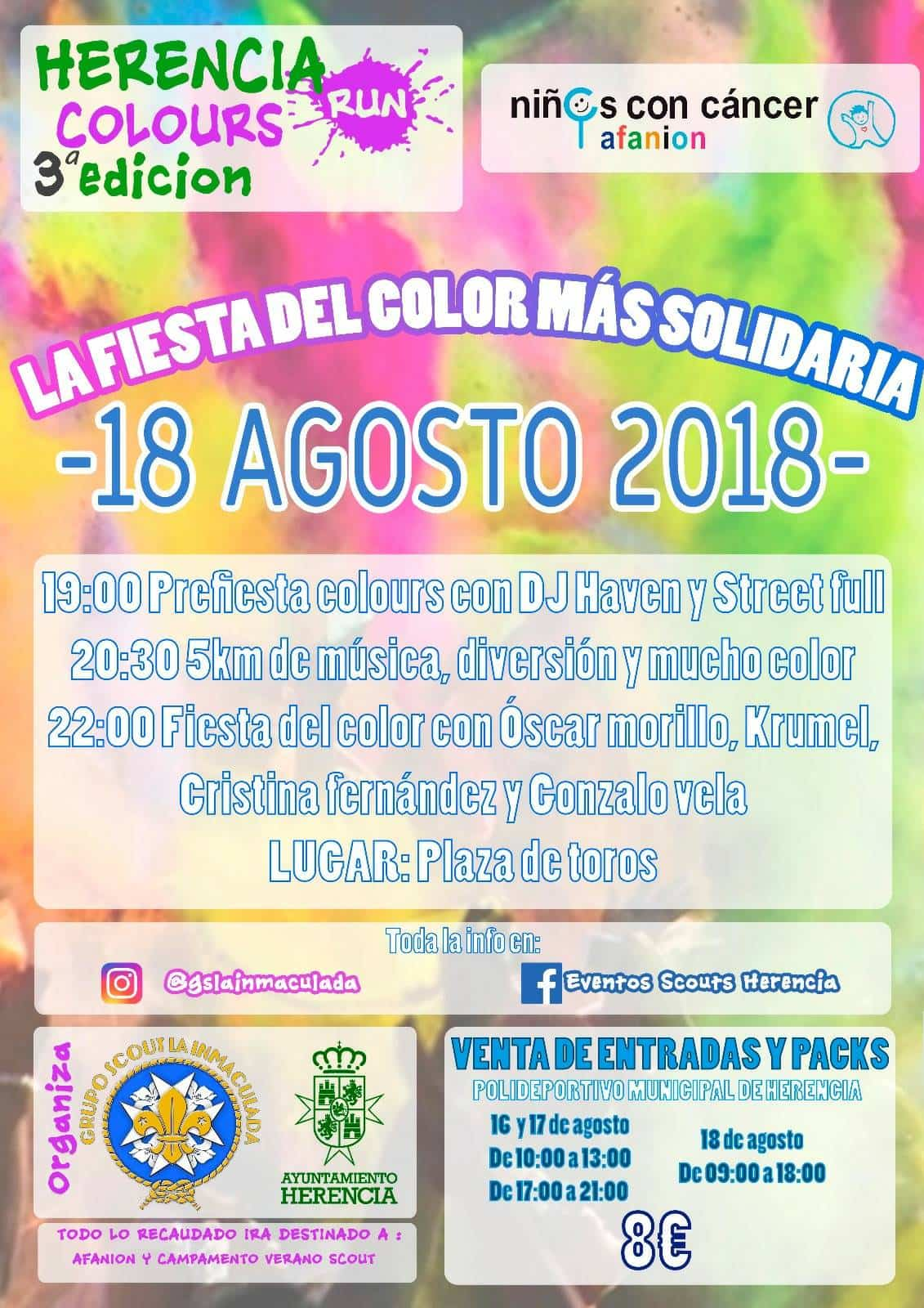 III herencia colours run - III Herencia Colours Run, la fiesta del color más solidaria