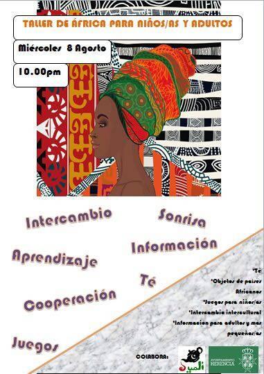 El Uali organiza un taller de África en la plaza 3
