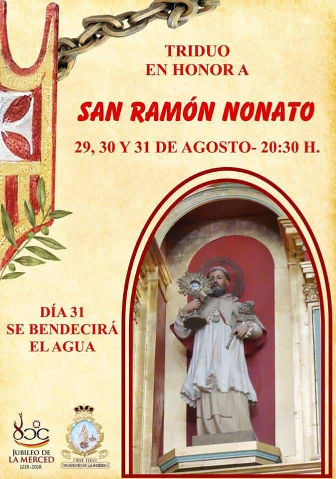 Triduo en honor a San Ramón Nonato en el convento de la Merced 3
