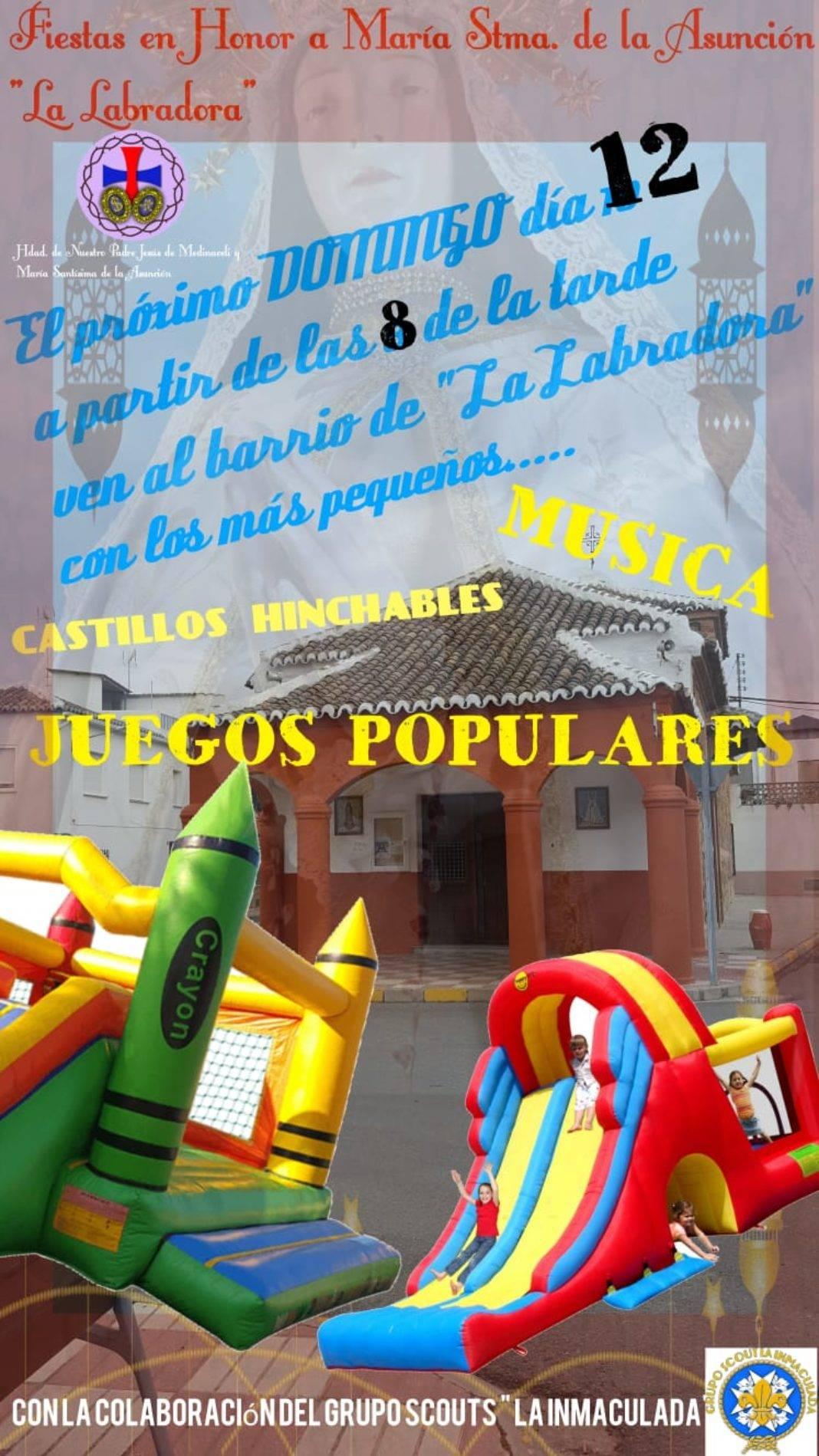 Música, juegos populares e hinchables en el barrio de La Labradora 4