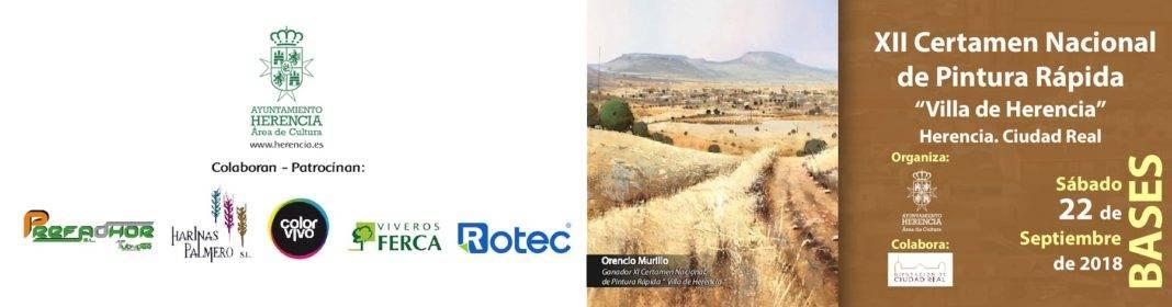 "XII certamen pintura rapida herencia 1 1068x280 - Convocado el XII Certamen Nacional de Pintura Rápida ""Villa de Herencia"""