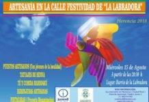 """Artesanía en la calle en la festividad de """"La Labradora"""" en Herencia"""