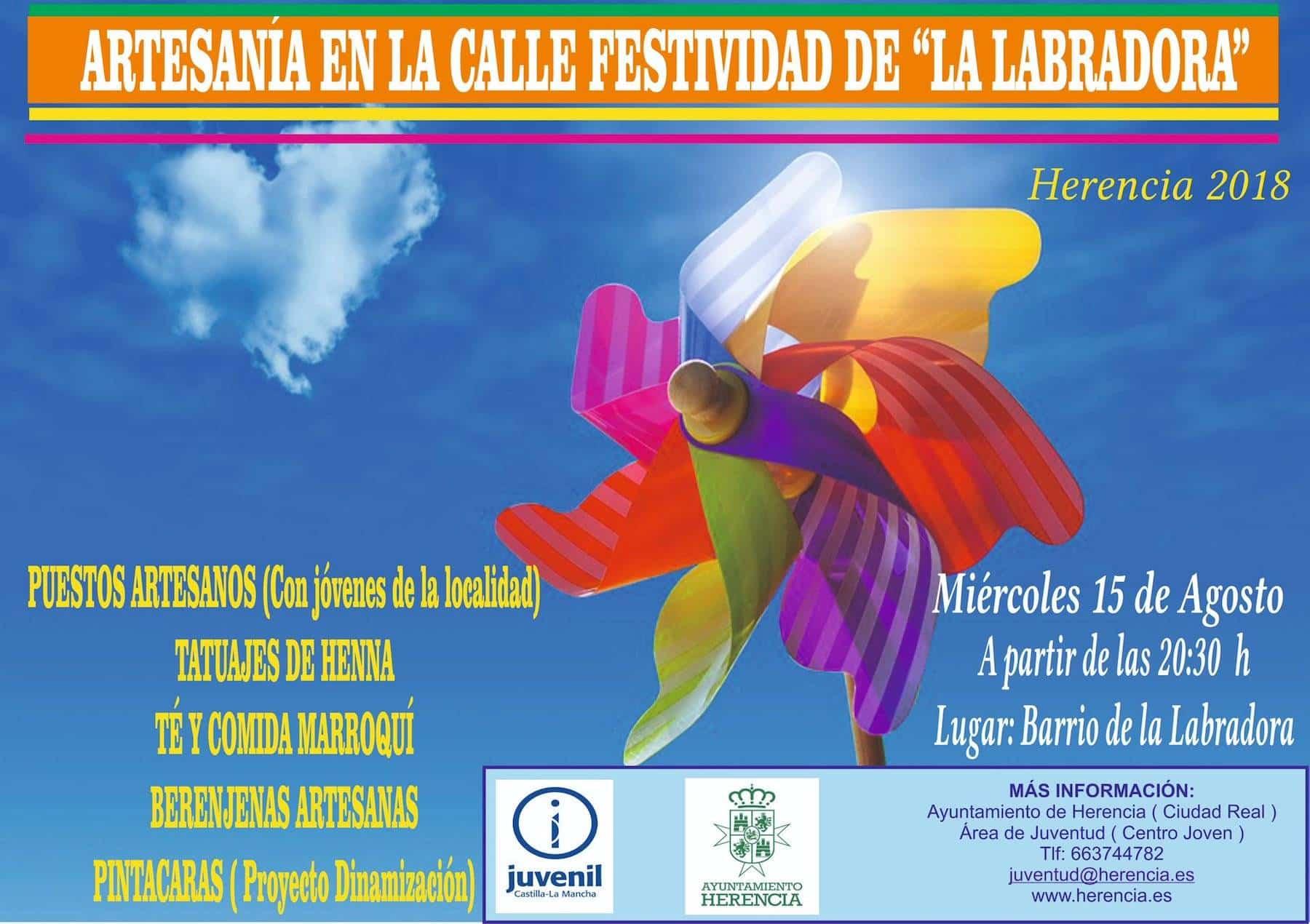 """artesania en la calle festividad labradora herencia - Artesanía en la calle en la festividad de """"La Labradora"""" en Herencia"""