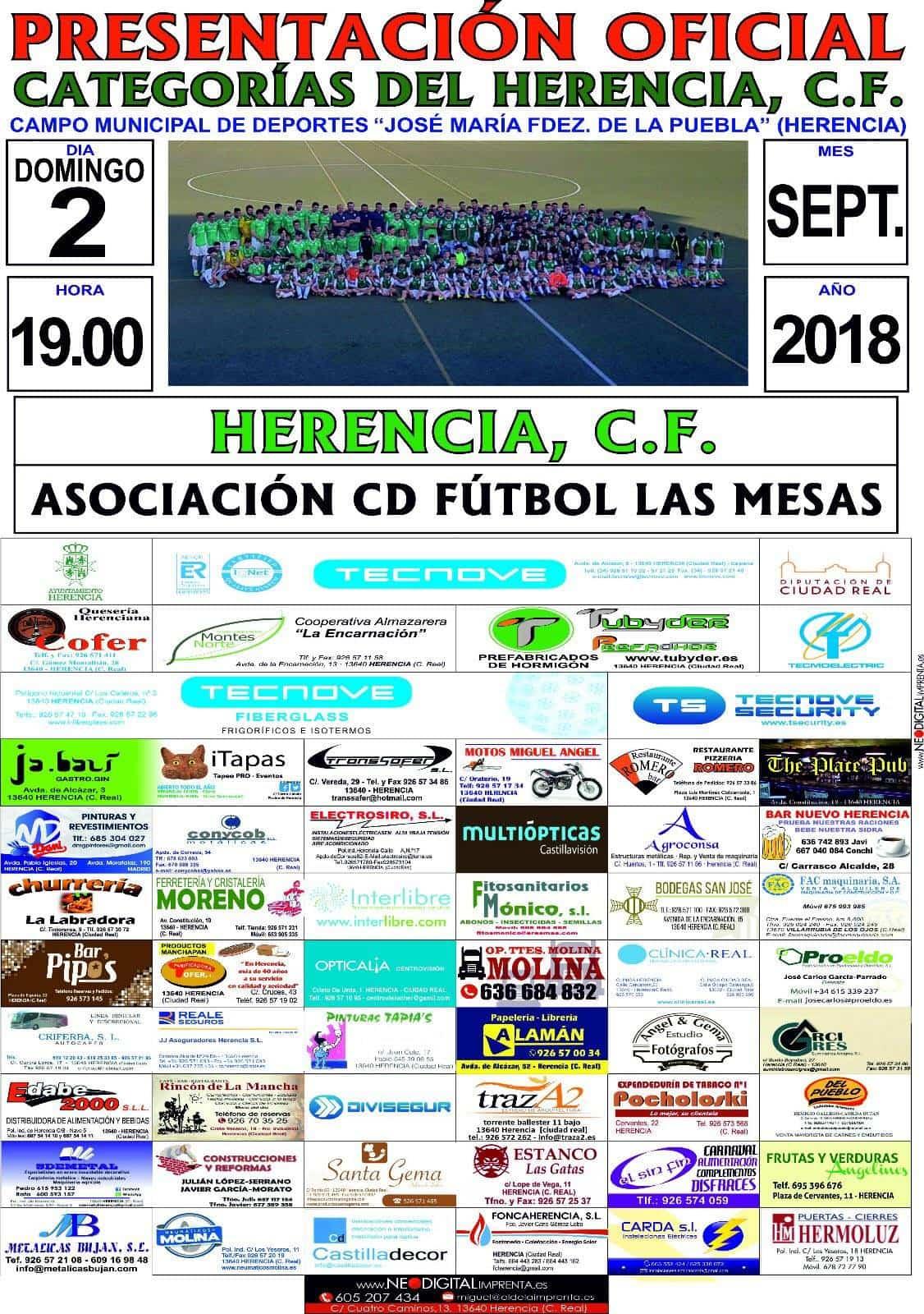 cartel presentacion categorias herencia futbol - Presentación oficial de las categorías del Herencia C.F.