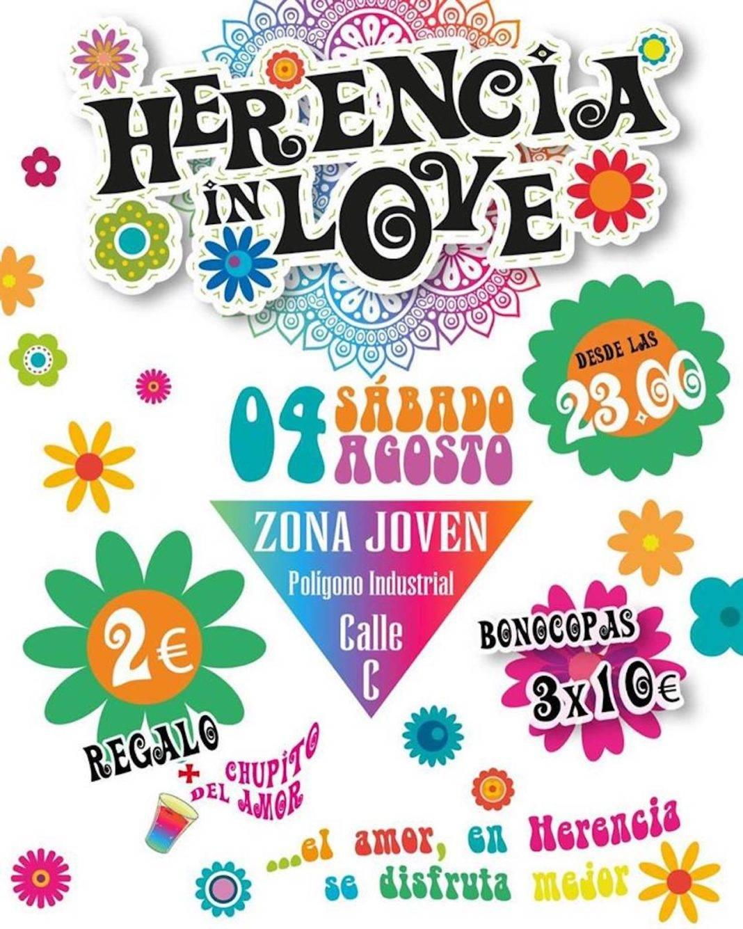 "fiesta botellon herencia in love 1068x1335 - Fiesta ""Herencia in love"" este fin de semana en Herencia"