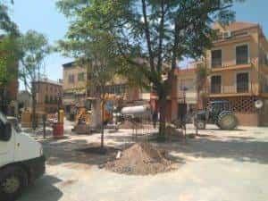 nueva plaza cervantes herencia ciudad real 2 300x225 - La nueva Plaza Cervantes de Herencia pronto finalizará sus obras