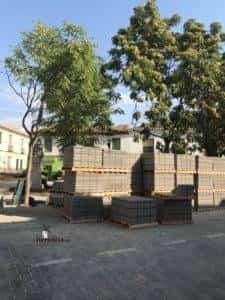 obras avenida y plaza cervantes en herencia fotos dcarrero herencia net 11 225x300 - La nueva Plaza Cervantes de Herencia pronto finalizará sus obras