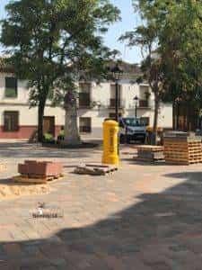 obras avenida y plaza cervantes en herencia fotos dcarrero herencia net 17 225x300 - La nueva Plaza Cervantes de Herencia pronto finalizará sus obras
