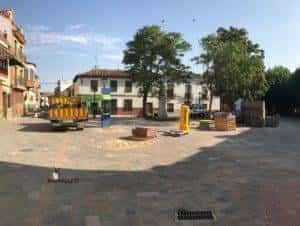 obras avenida y plaza cervantes en herencia fotos dcarrero herencia net 18 300x226 - La nueva Plaza Cervantes de Herencia pronto finalizará sus obras