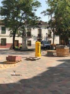 obras avenida y plaza cervantes en herencia fotos dcarrero herencia net 20 225x300 - La nueva Plaza Cervantes de Herencia pronto finalizará sus obras