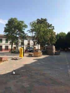 obras avenida y plaza cervantes en herencia fotos dcarrero herencia net 22 225x300 - La nueva Plaza Cervantes de Herencia pronto finalizará sus obras