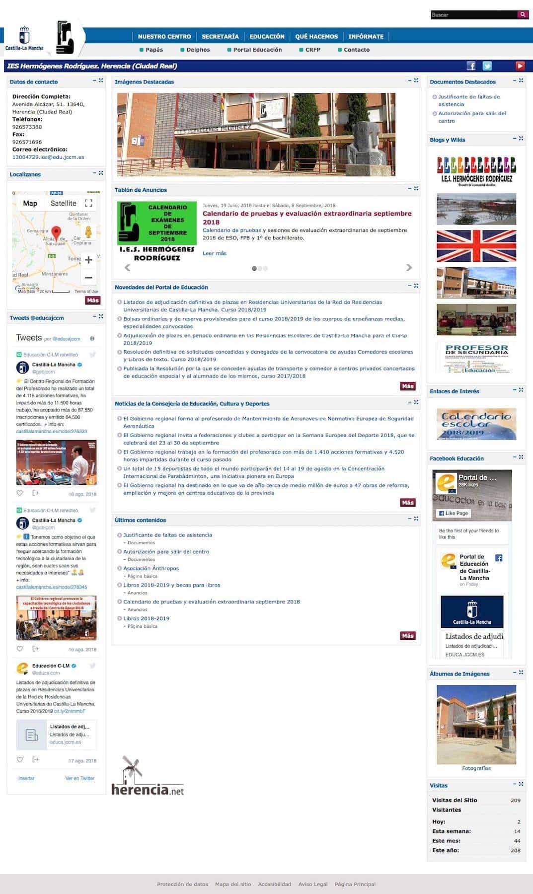 pagina web oficial ies hermogenes rodriguez herencia - IES Hermógenes Rodríguez ya tiene página web oficial