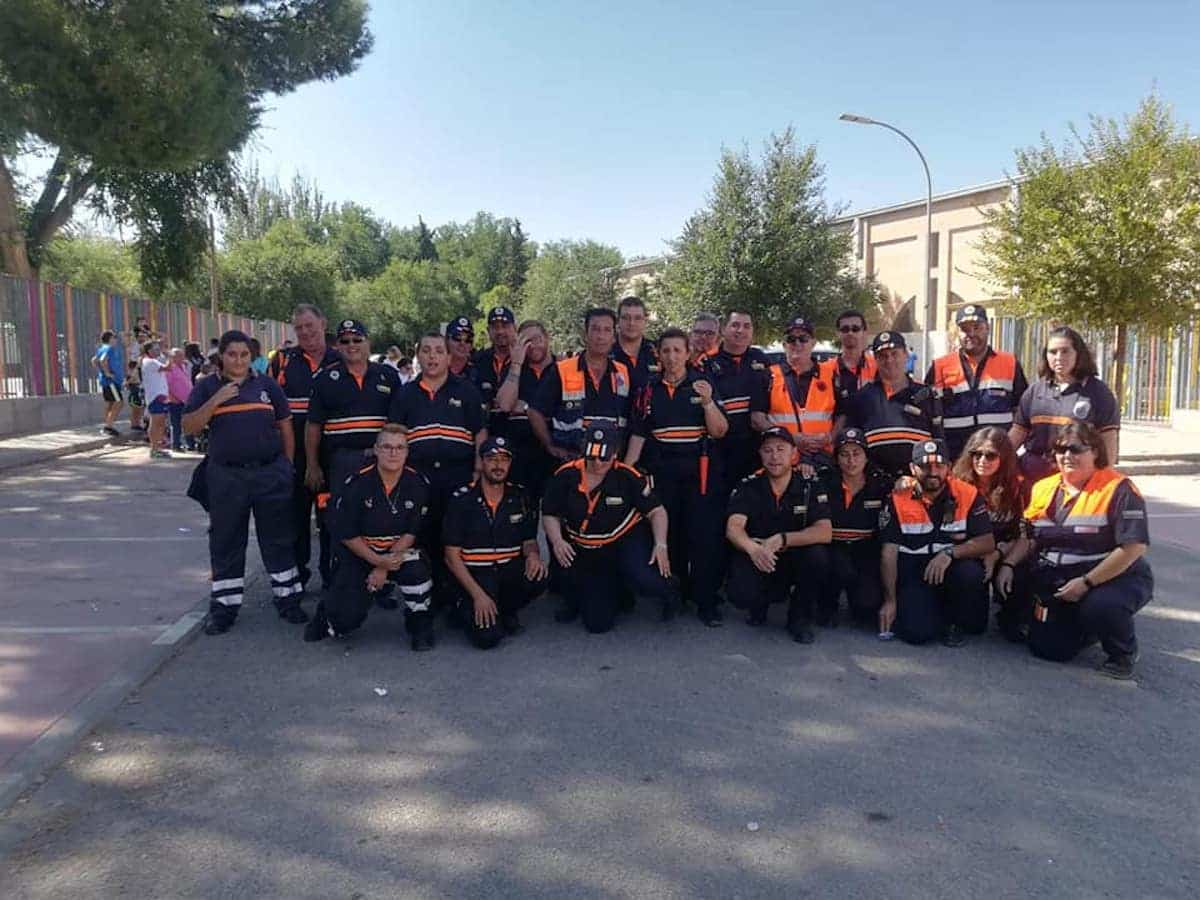 25 voluntarios de Protección Civil colaboraron con la 42 Carrera Popular 1