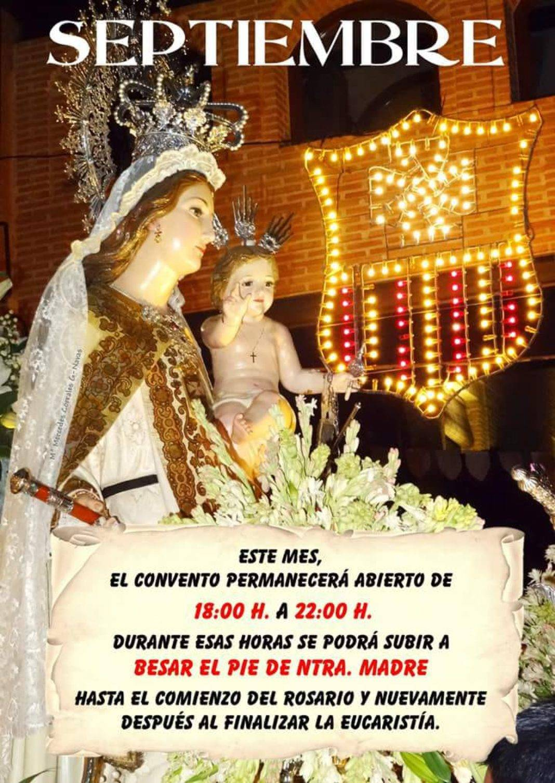 Besapie a la Virgen durante el mes de septeimbre 1068x1507 - Besapié a la Virgen de las Mercedes todas las tardes de septiembre